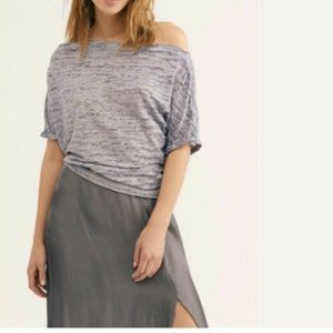 Free People Convertible Neck Astrid Tee, Grey